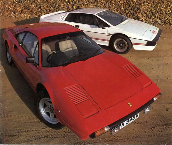 Car_Magazine_1981_Esprit_Turbo_Ferrari_308GTBi