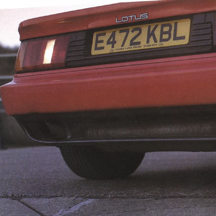 Lotus Esprit 1988 Rear Detail