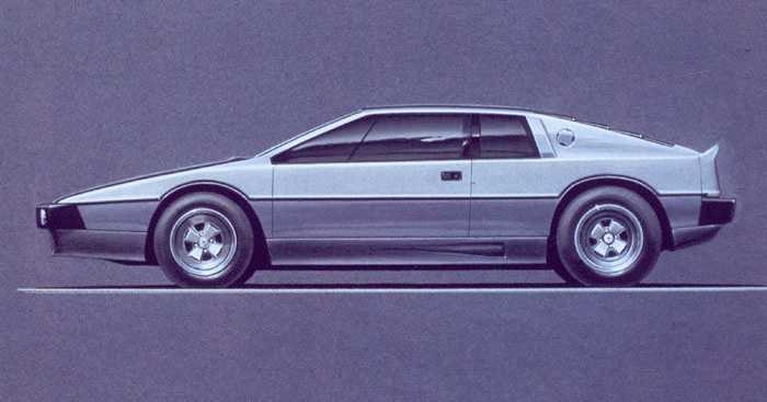 Lotus Turbo Esprit Sketch