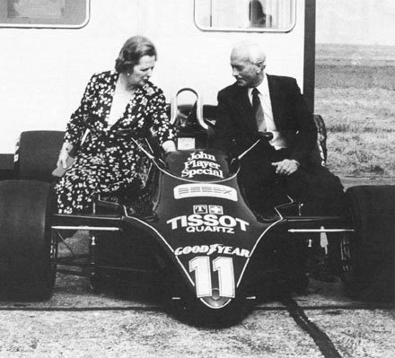 Margaret_Thatcher_Colin_Chapman_Type_91